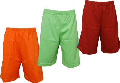 Little Star Solid Boy's Multicolor Basic Shorts