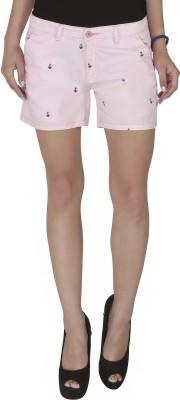 Imagica Printed Women's Pink Hotpants