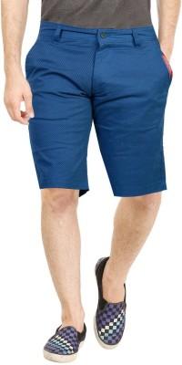 Dolce Hugo Checkered, Printed Men's Blue Basic Shorts, Beach Shorts, Bermuda Shorts
