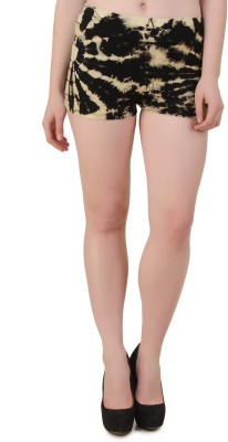 Mojeska Self Design Women,s Multicolor Basic Shorts