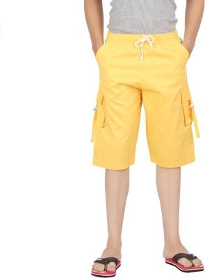 Parade Solid Men,s Yellow Bermuda Shorts