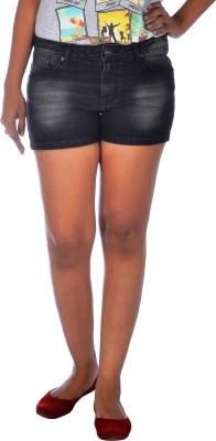 Klorophyl Woven Women's Black Denim Shorts