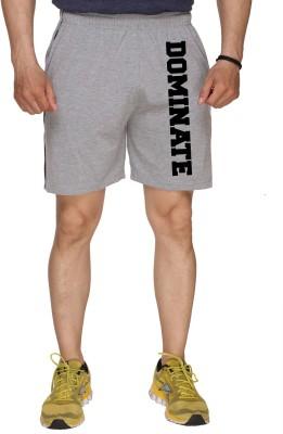 SayItLoud Printed Men's Grey Gym Shorts