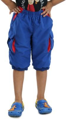 Dazzgear Solid Girl's Blue Basic Shorts