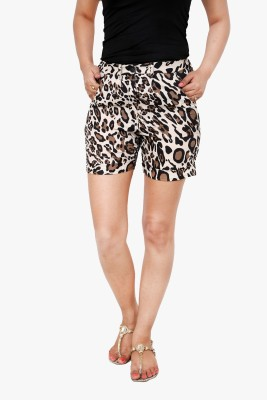 Alba Animal Print Women's Multicolor Basic Shorts