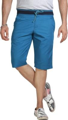 AVOQ-Style Reboot Solid Men's Green Basic Shorts, Bermuda Shorts, Night Shorts