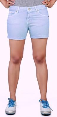 Klorophyl Woven Women's Light Blue Basic Shorts