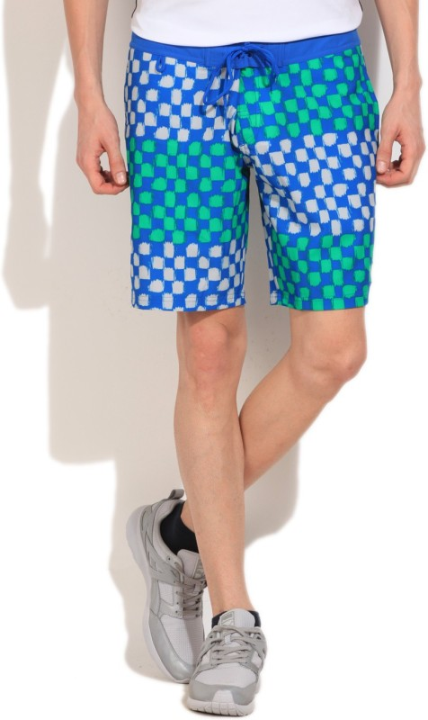 Puma Printed Men's Blue Basic Shorts