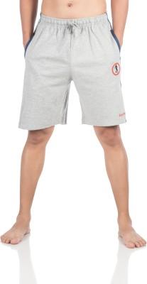 Vip Solid Men,s Grey Bermuda Shorts