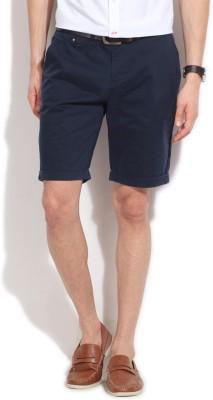 People Solid Men's Blue Basic Shorts