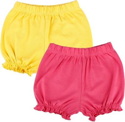Kidsmode Solid Baby Girl,s Multicolor Basic Shorts