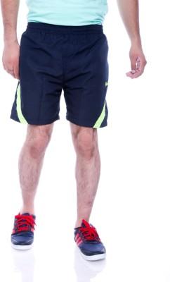 Choice4U Solid Men's Dark Blue, Yellow Sports Shorts