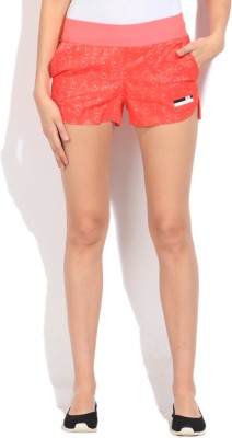 Adidas Printed Women's Orange Sports Shorts at flipkart
