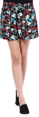 Oxolloxo Printed Women's Multicolor Basic Shorts