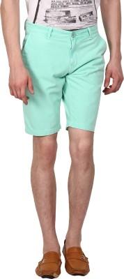 I-Voc Solid Men's Light Green Chino Shorts