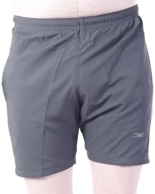 Zagros Solid Men's Grey, White Sports Shorts, Gym Shorts