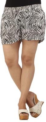 Modimania Animal Print Women's Black, White Basic Shorts