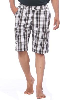 Bornfree Checkered Men's Multicolor Bermuda Shorts