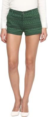 Annapoliss Printed Women's Dark Green Hotpants