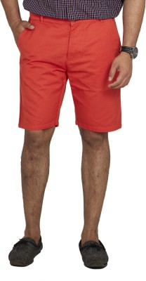Inspired By Boardriding Solid Men's Orange Basic Shorts