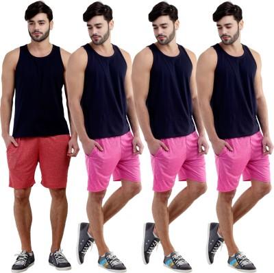 Dee Mannequin Self Design Men's Red, Pink, Pink, Pink Sports Shorts