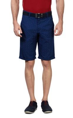 Van Heusen Printed Men's Blue Basic Shorts