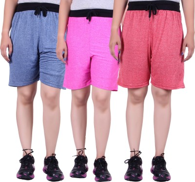 Gag Wear Solid Women's Red, Dark Blue, Pink Swim Shorts at flipkart