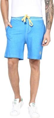 MONTEIL & MUNERO Solid Men's Blue Chino Shorts