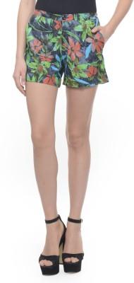 Lavennder Printed Women's Black Basic Shorts