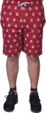 BEXTER Printed Men's Red Bermuda Shorts
