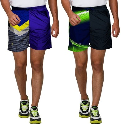 Proplay Graphic Print Men's Multicolor Sports Shorts