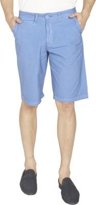 Globus Solid Men's Light Blue Chino Shorts