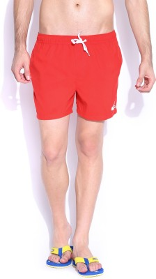 Quiksilver Solid Men,s Red Board Shorts