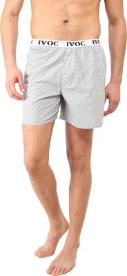 I-Voc Printed Men's Grey, White Boxer Shorts