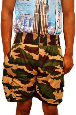 NWK Printed Men's Multicolor Cargo Shorts