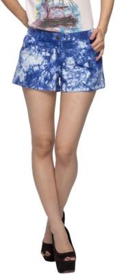 Alibi By Inmark Printed Women's Blue Basic Shorts