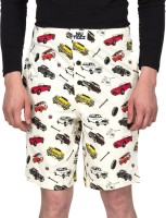 Nuteez Men's Wear - Nuteez Printed Men's Beige Night Shorts