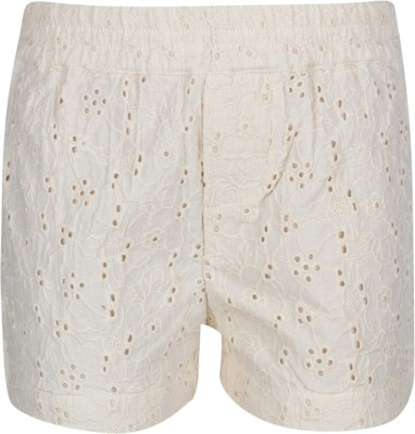 Tickles By Inmark Embroidered Girl,s Beige Basic Shorts