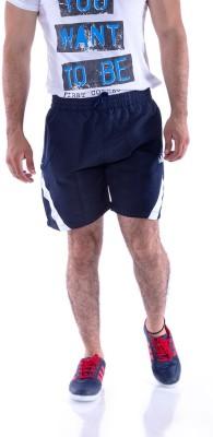 Choice4U Solid Men's Reversible Blue, White Sports Shorts