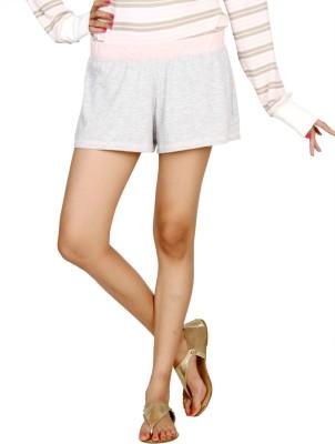 Karishma Solid Women's Grey Basic Shorts