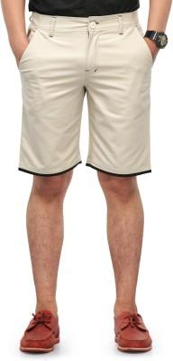 Haute Couture Solid Men,s White Chino Shorts