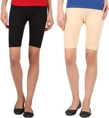 Rham Solid Women's Multicolor Basic Shorts at flipkart