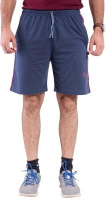 Lingo Striped Men's Grey Basic Shorts