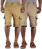 FBM Printed Men's Multicolor Cargo Short...