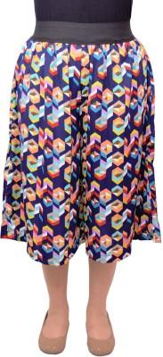 Gracediva Geometric Print Women's Multicolor Culotte Shorts