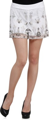 Oxolloxo Solid Women's White Basic Shorts at flipkart