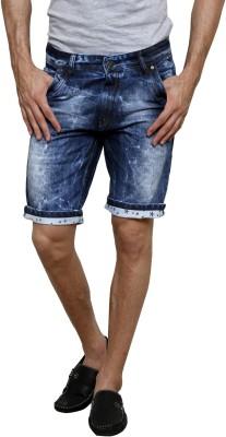 3Concept Solid Mens Blue Denim Shorts