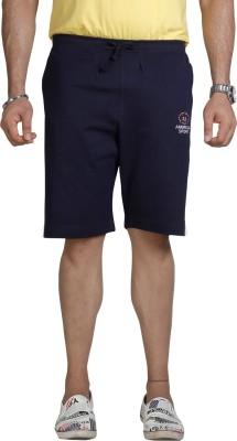 Allocate Solid Men's Dark Blue Gym Shorts, Night Shorts, Running Shorts