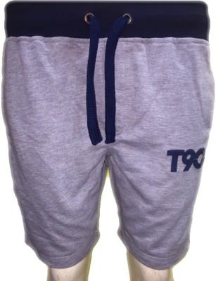 Smilebynature Solid Men's Grey Basic Shorts