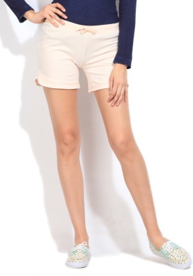STYLE QUOTIENT BY NOI Solid Women's Orange Basic Shorts